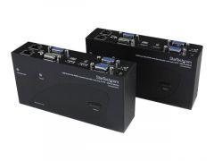 StarTech.com Switch Commutateur KVM USB VGA double 200m 2 x cable UTP Cat 5 -Transmetteur KVM Extendeur de console