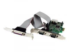 StarTech.com Carte PCI Express 2 Ports Série RS232 1 Port Parallèle