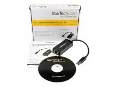 StarTech.com Adaptateur réseau USB 3.0 vers Gigabit Ethernet avec port USB intégré