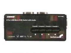 StarTech.com Switch KVM USB VGA à 4 ports avec câbles